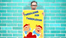 Disney Alice in wonderland Tweedledee and tweedledum Art - Wall Art Print Poster   -  Poster Geekery